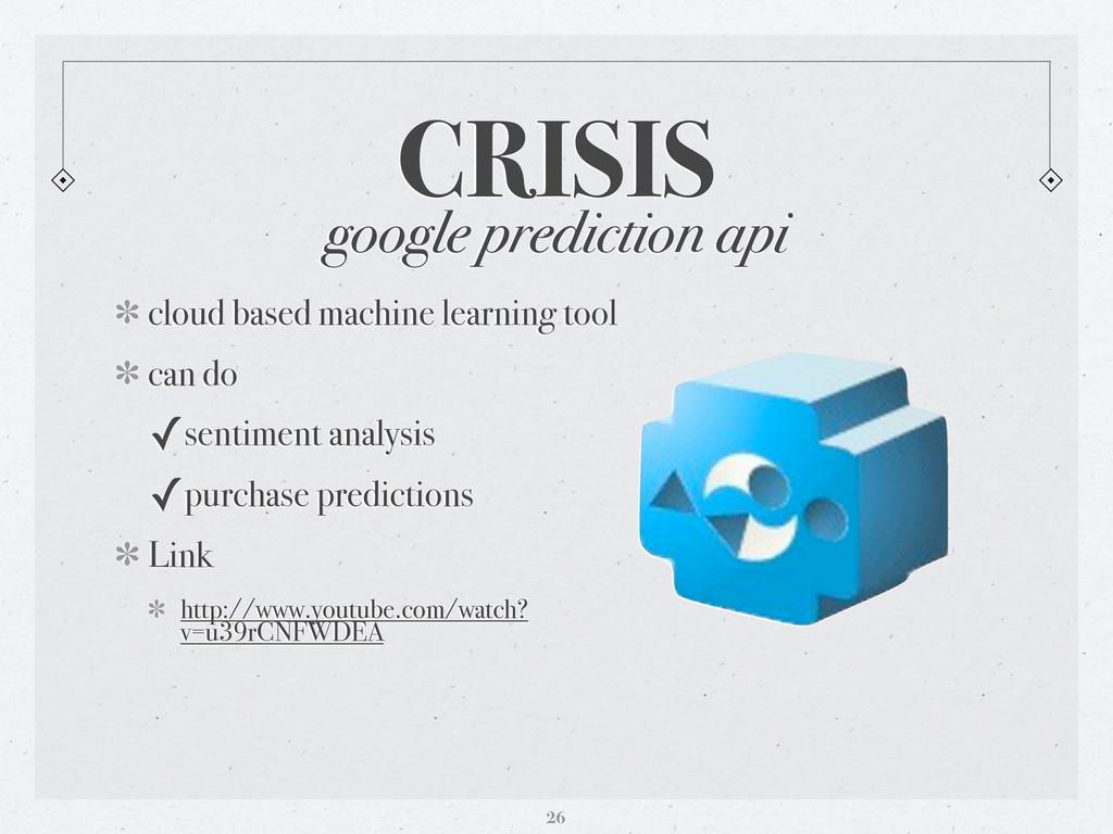 google prediction api cloud based machine learn...