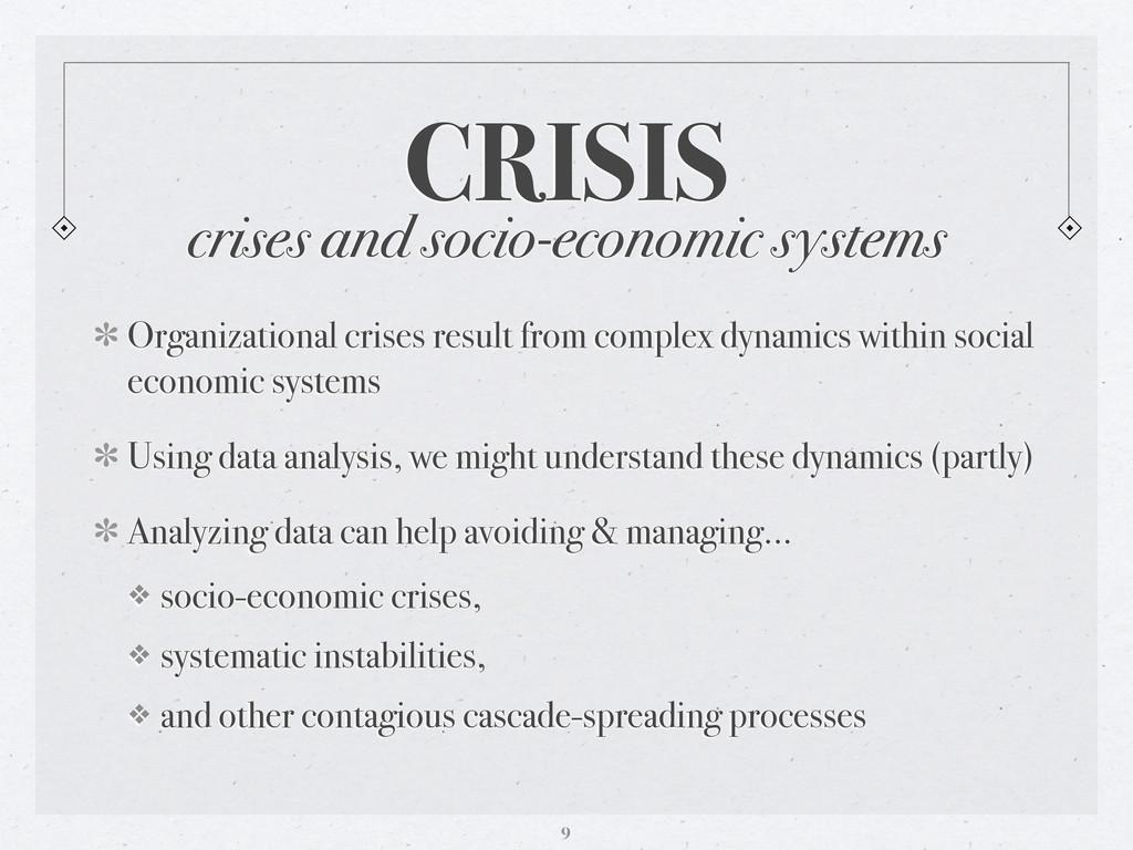 crises and socio-economic systems CRISIS Organi...