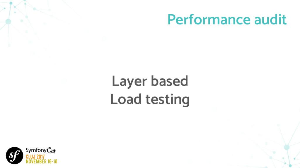 Performance audit Layer based Load testing