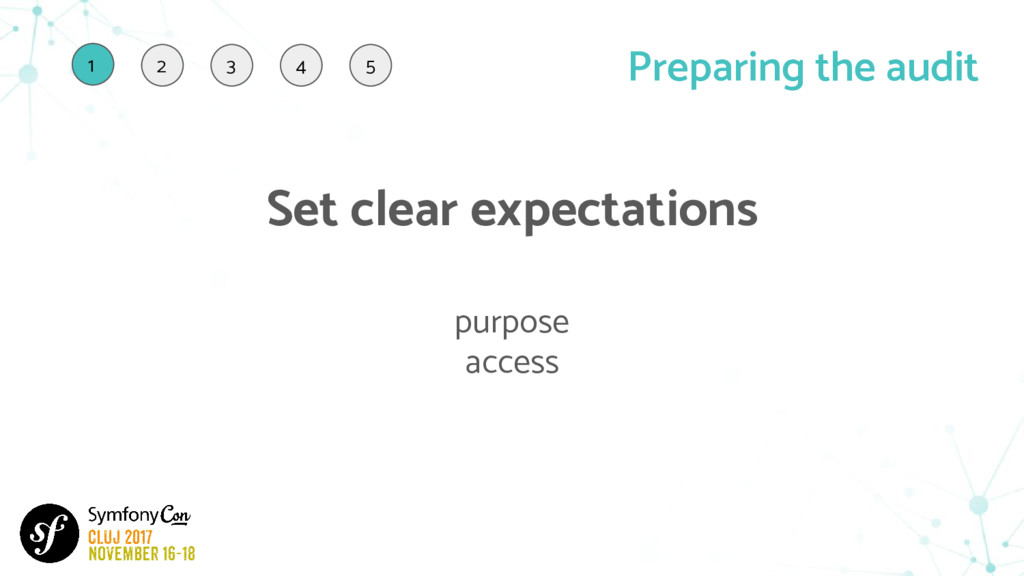 Set clear expectations purpose access Preparing...