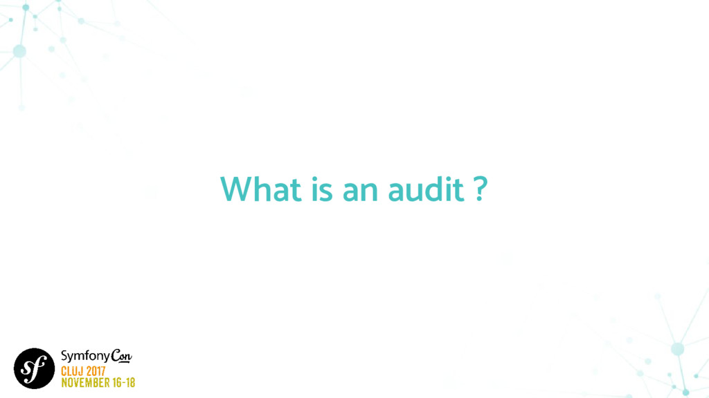 What is an audit ?