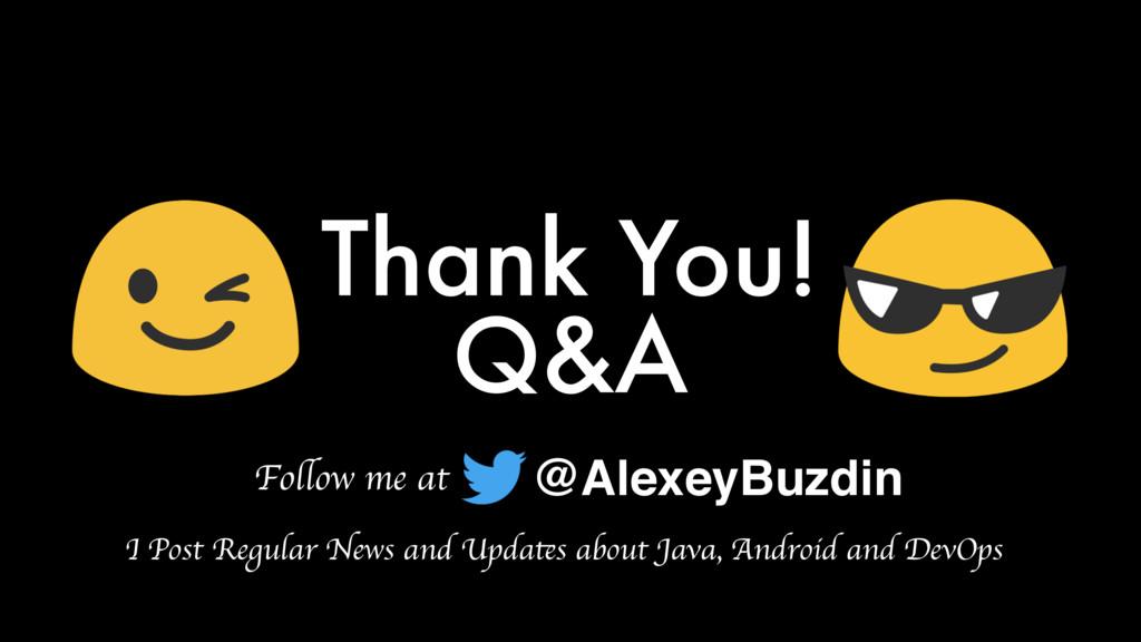 Q&A Thank You! @AlexeyBuzdin Follow me at I Pos...