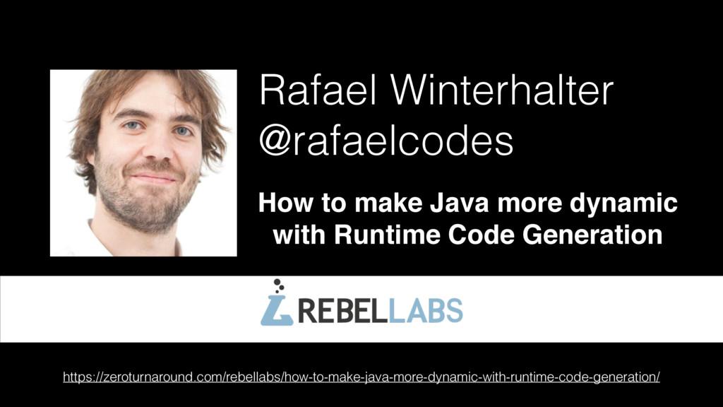 Rafael Winterhalter @rafaelcodes How to make Ja...