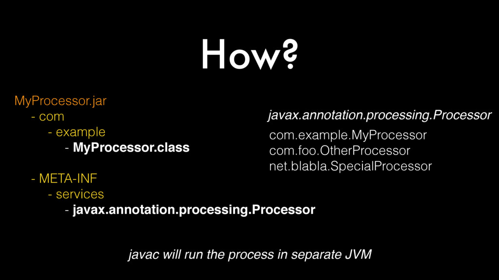 How? MyProcessor.jar - com - example - MyProces...