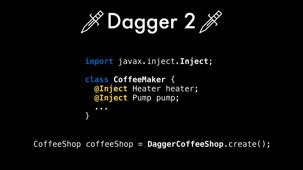 Dagger 2 CoffeeShop coffeeShop = DaggerCoffeeSh...