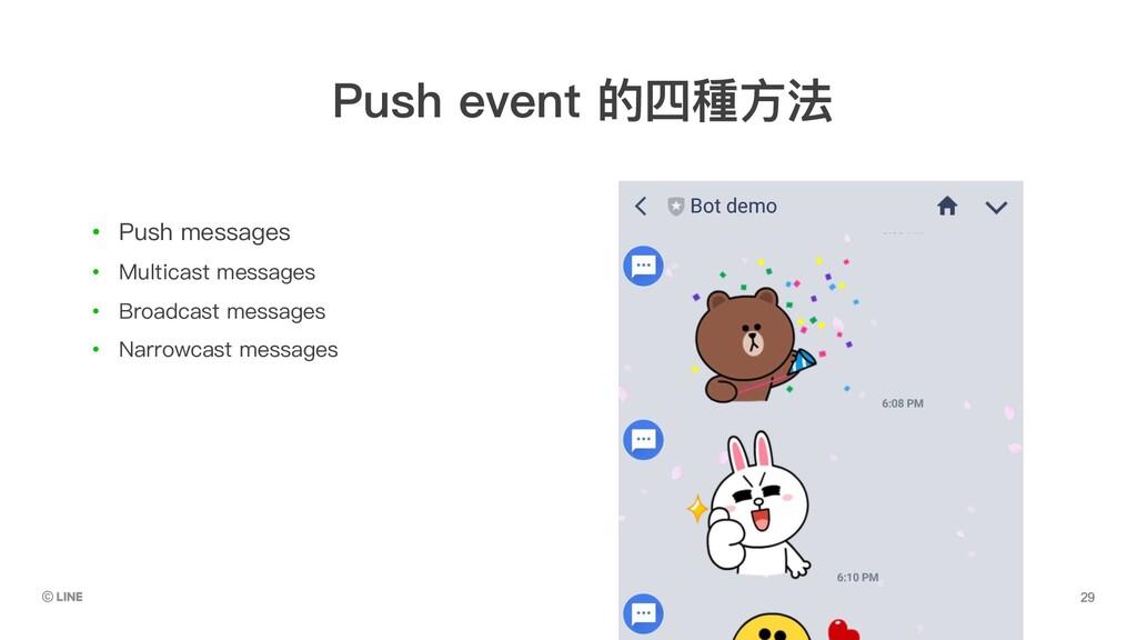 • Push messages • Multicast messages • Broadcas...