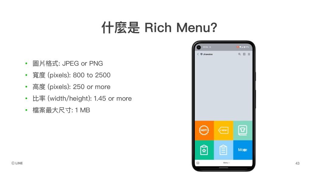 • 圖片格式: JPEG or PNG • 寬度 (pixels): 800 to 2500 ...
