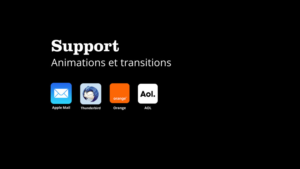 Support Animations et transitions Apple Mail Th...