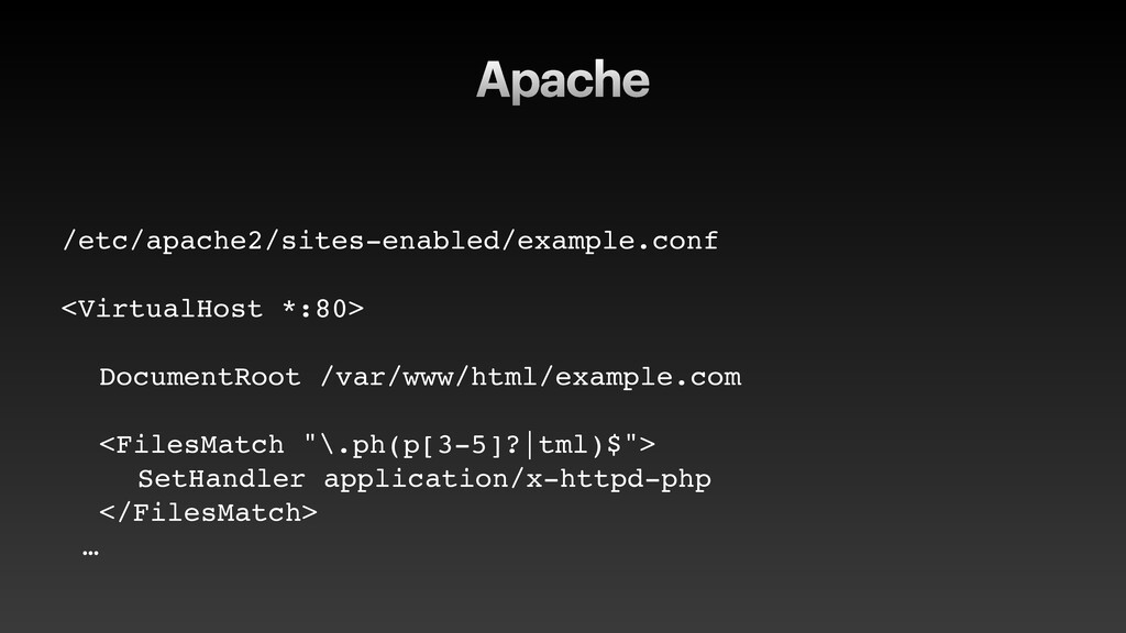 Apache /etc/apache2/sites-enabled/example.conf ...