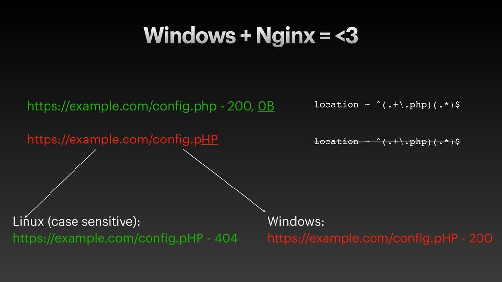Windows + Nginx = <3 https://example.com/config...