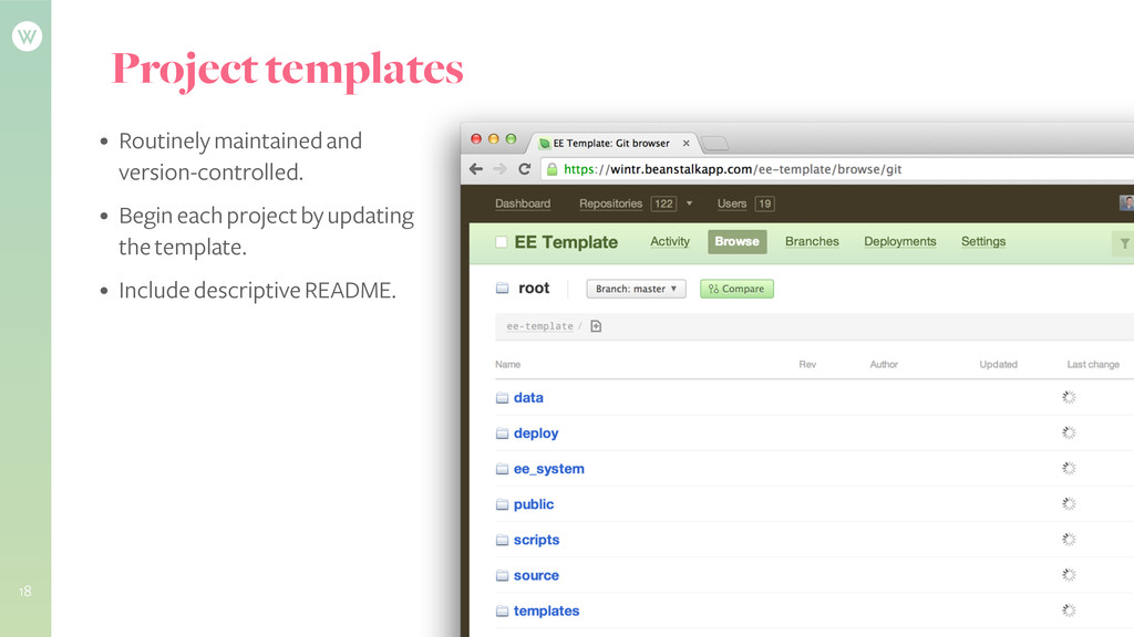 Project templates • Routinely maintained and ve...