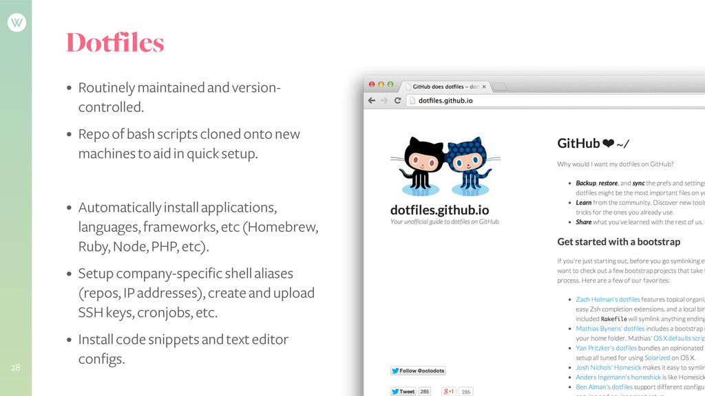 Dotfiles • Routinely maintained and version- co...