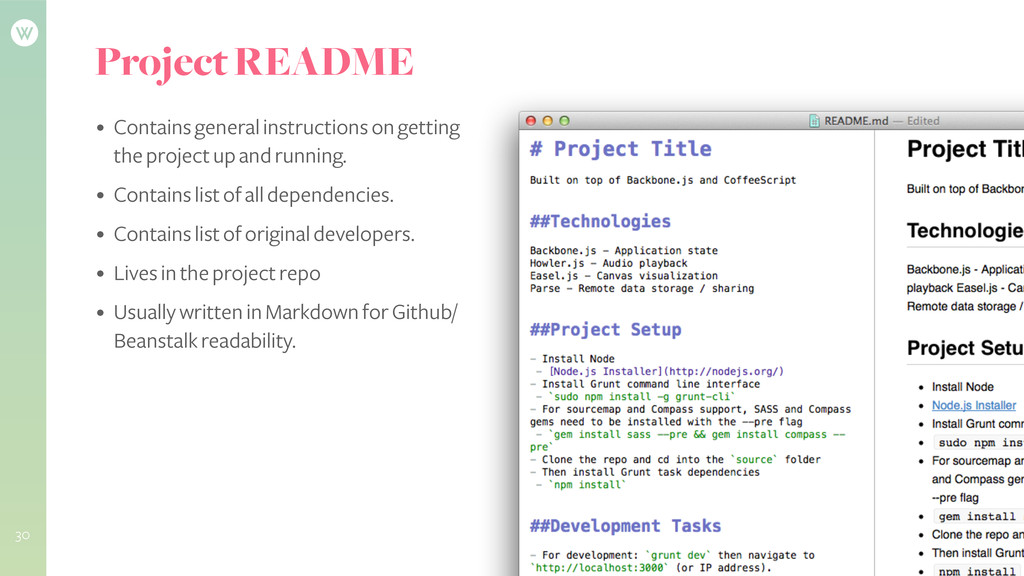 Project README • Contains general instructions ...