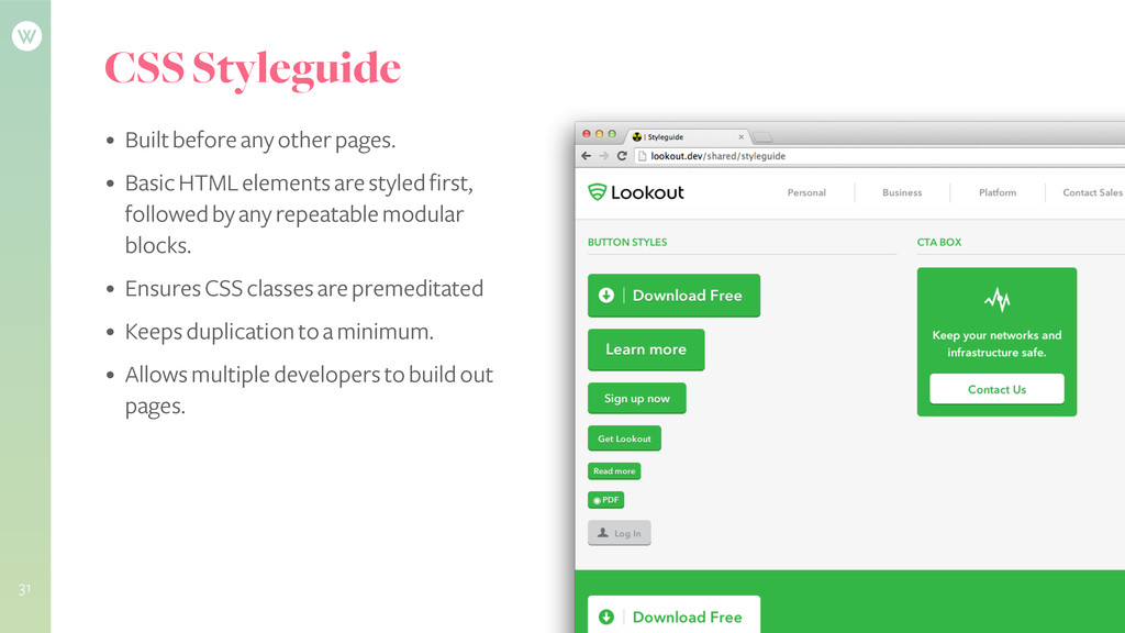 CSS Styleguide • Built before any other pages. ...