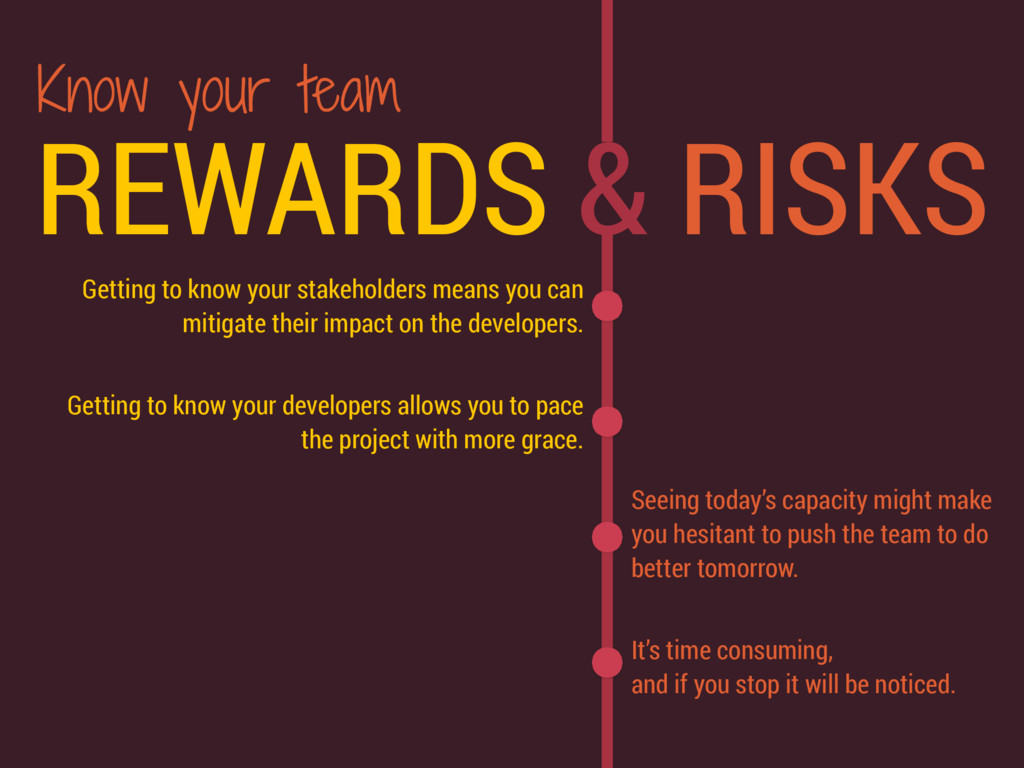 REWARDS & RISKS Getting to know your stakeholde...