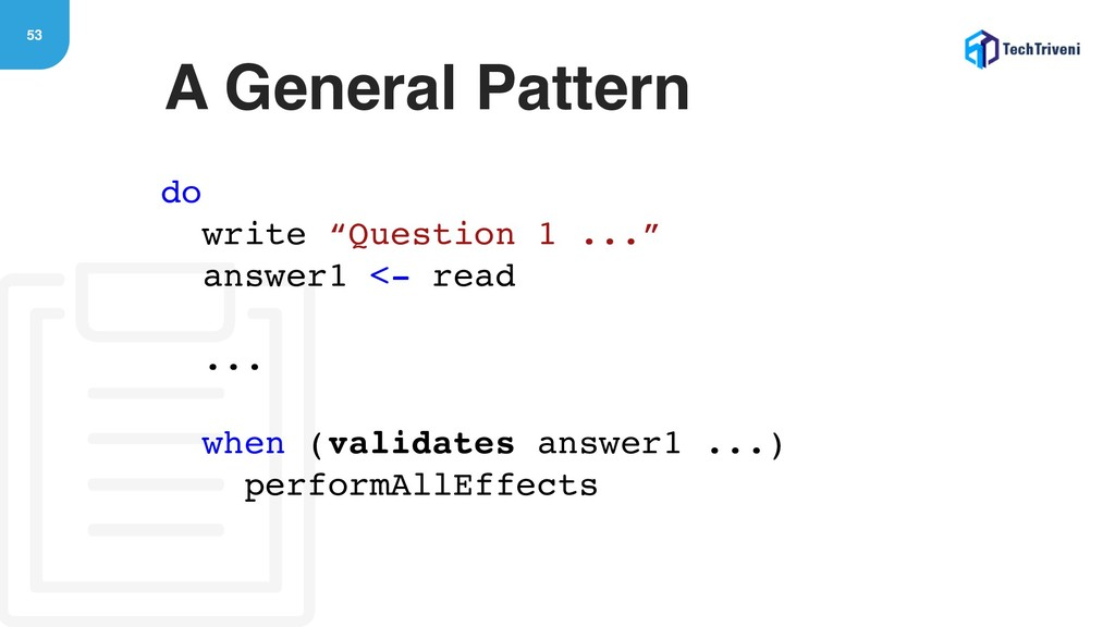 "53 A General Pattern do write ""Question 1 ..."" ..."