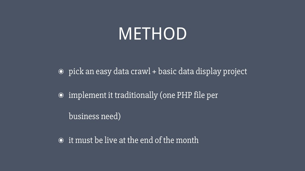 ‹#› ๏ pick an easy data crawl + basic data disp...