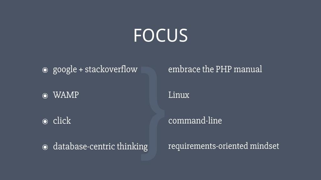 ‹#› ๏ google + stackoverflow FOCUS ๏ WAMP ๏ cli...