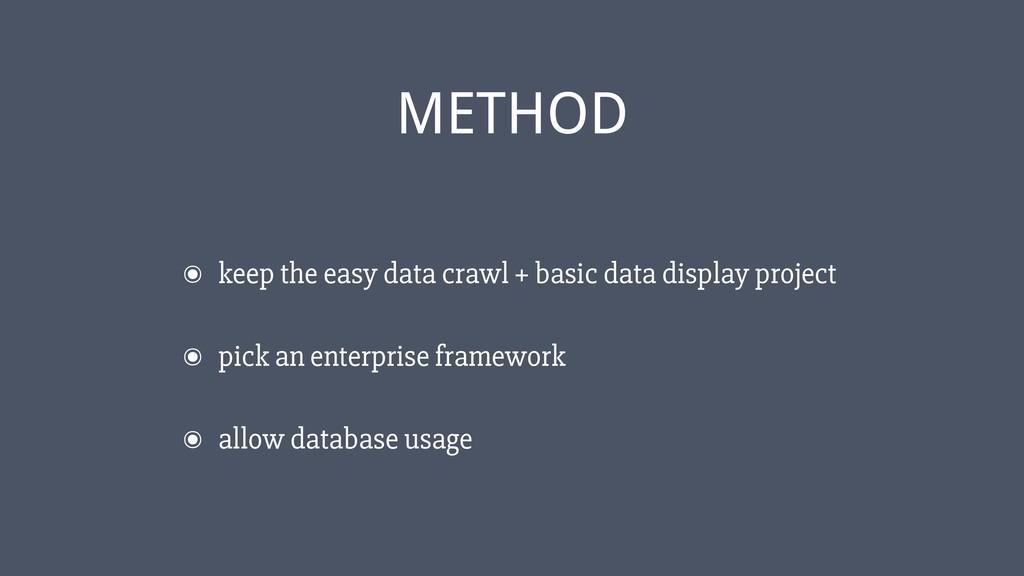 ‹#› ๏ keep the easy data crawl + basic data dis...