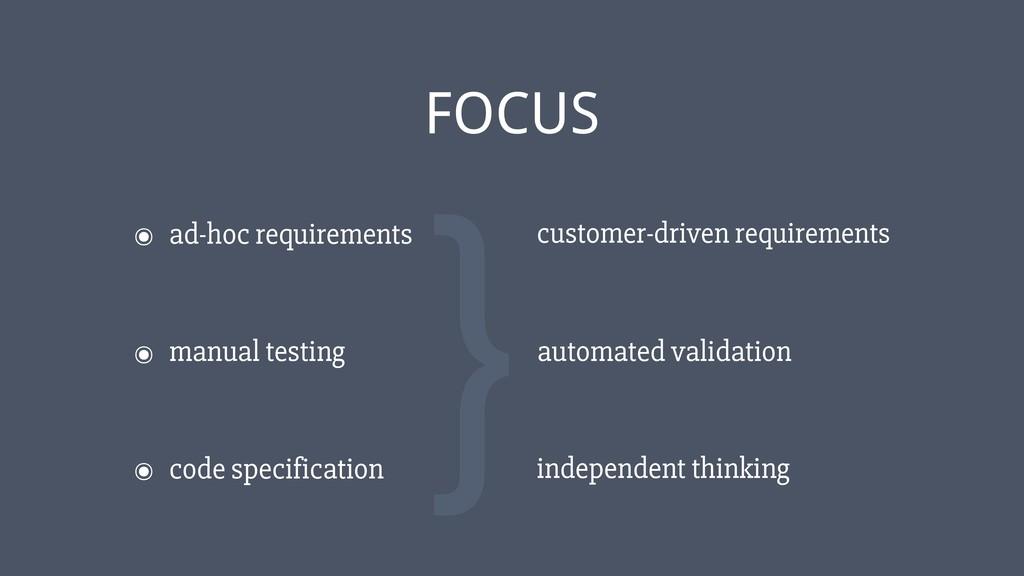 ‹#› ๏ ad-hoc requirements FOCUS ๏ manual testin...