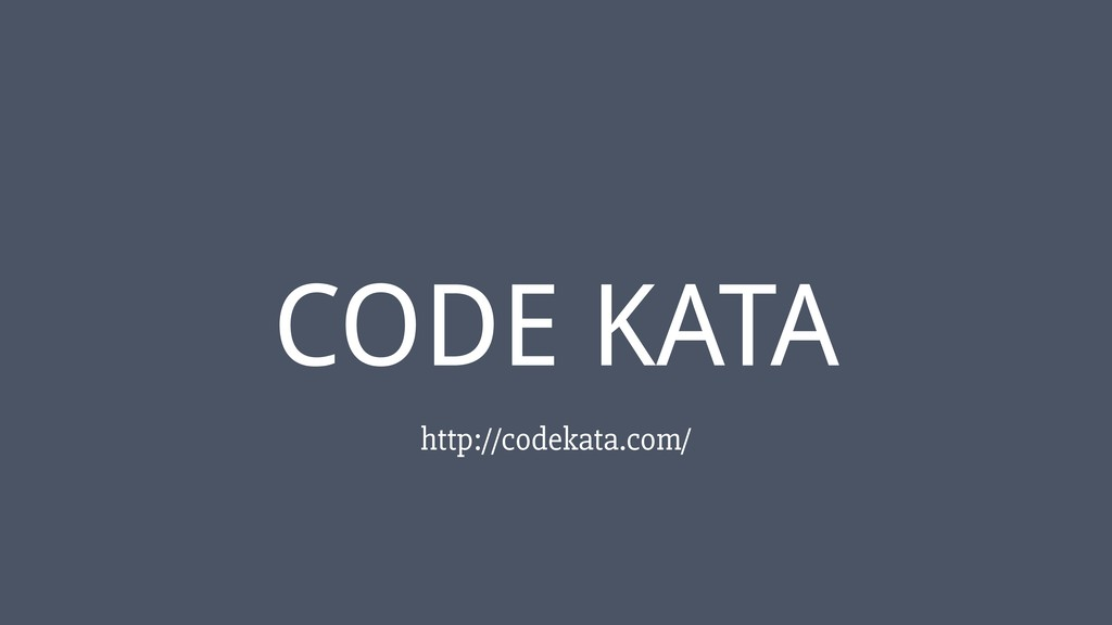 ‹#› CODE KATA http://codekata.com/