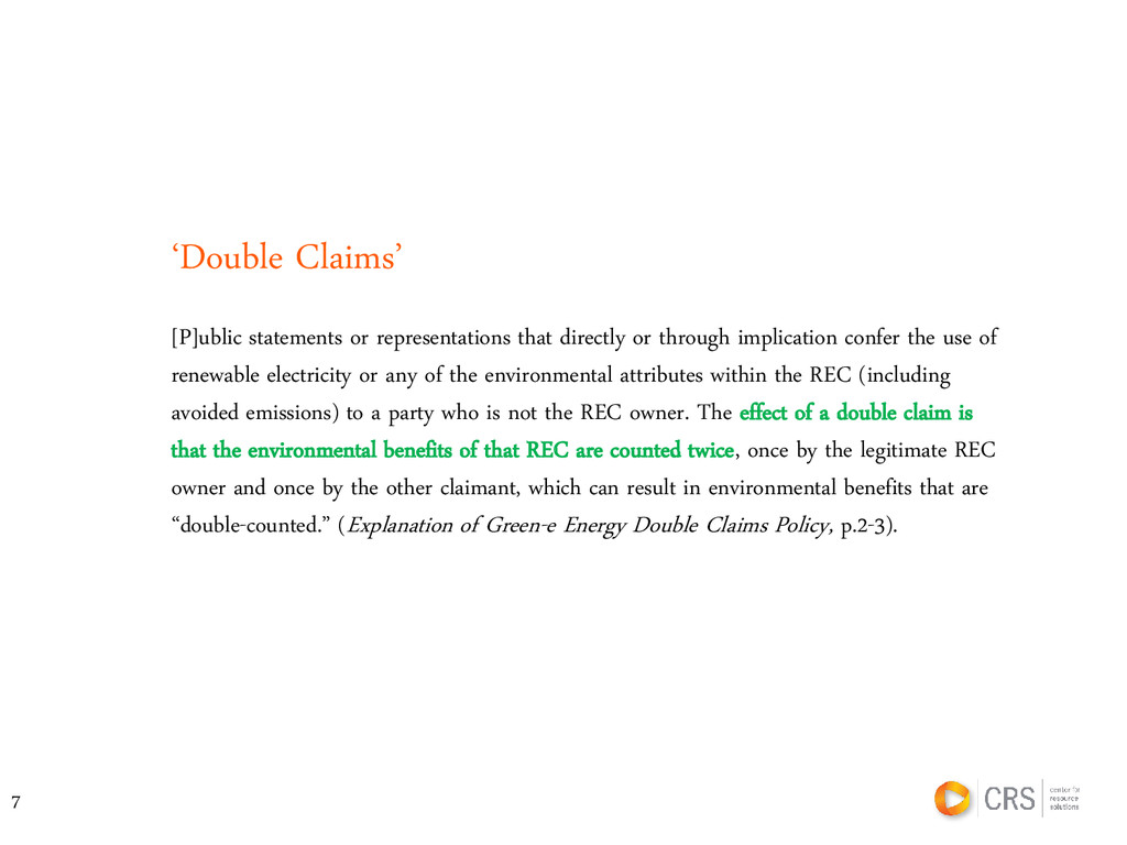 'Double Claims' [P]ublic statements or represen...