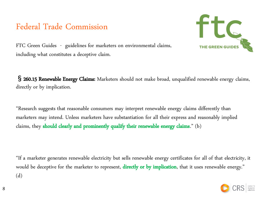 Federal Trade Commission FTC Green Guides - gui...