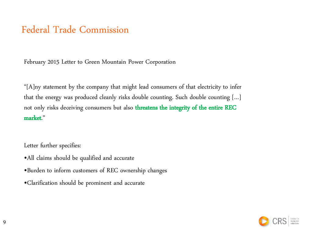 Federal Trade Commission February 2015 Letter t...