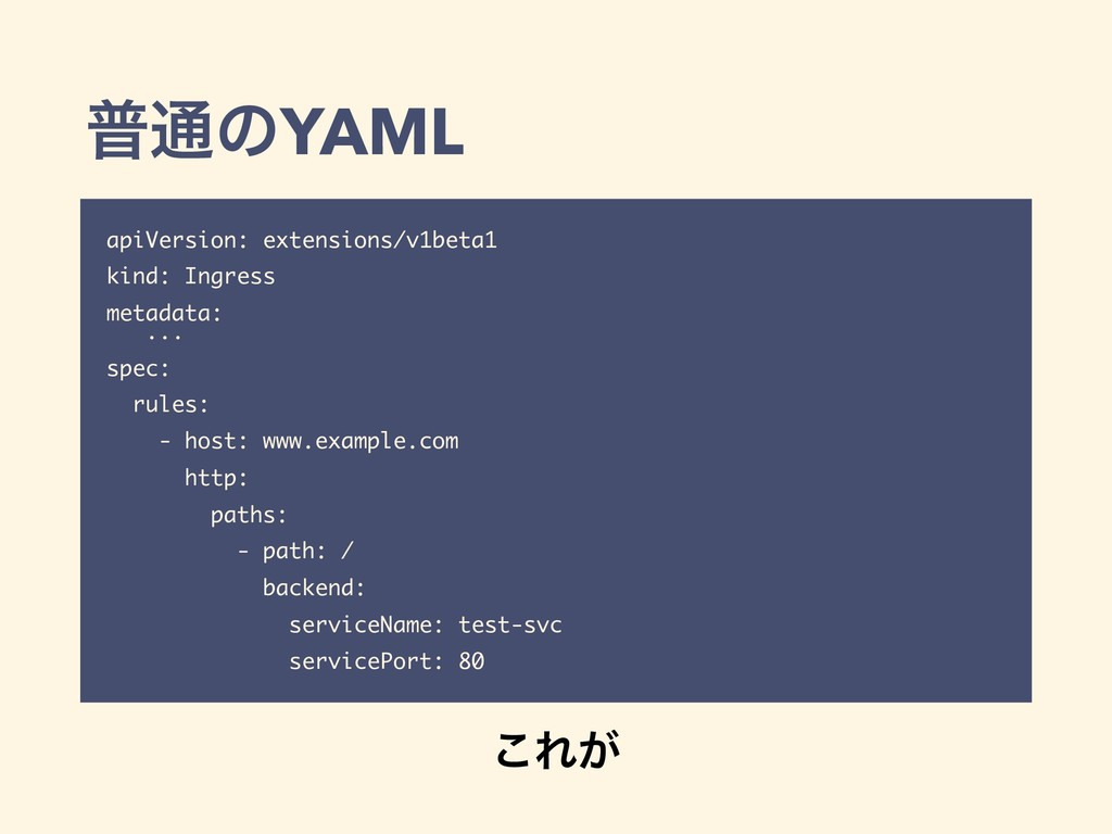 ී௨ͷYAML apiVersion: extensions/v1beta1 kind: In...