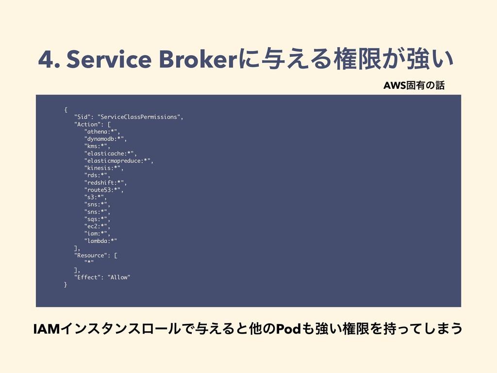 "4. Service Brokerʹ༩͑Δݖݶ͕ڧ͍ { ""Sid"": ""ServiceCla..."
