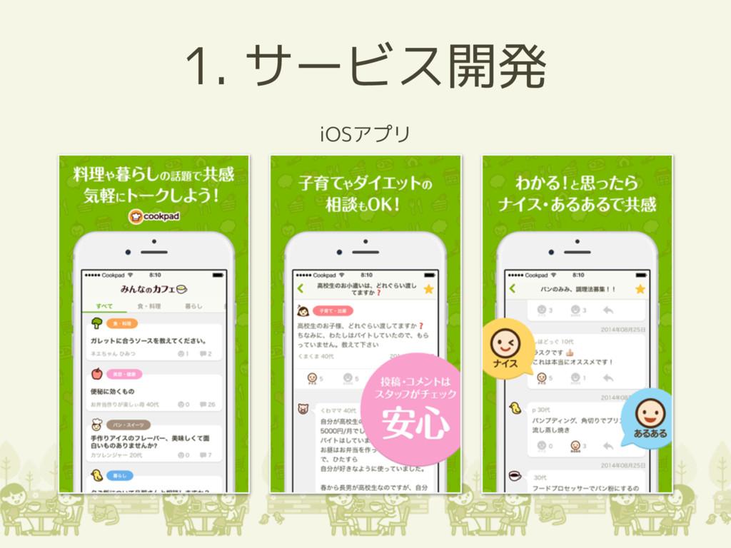 1. サービス開発 iOSアプリ