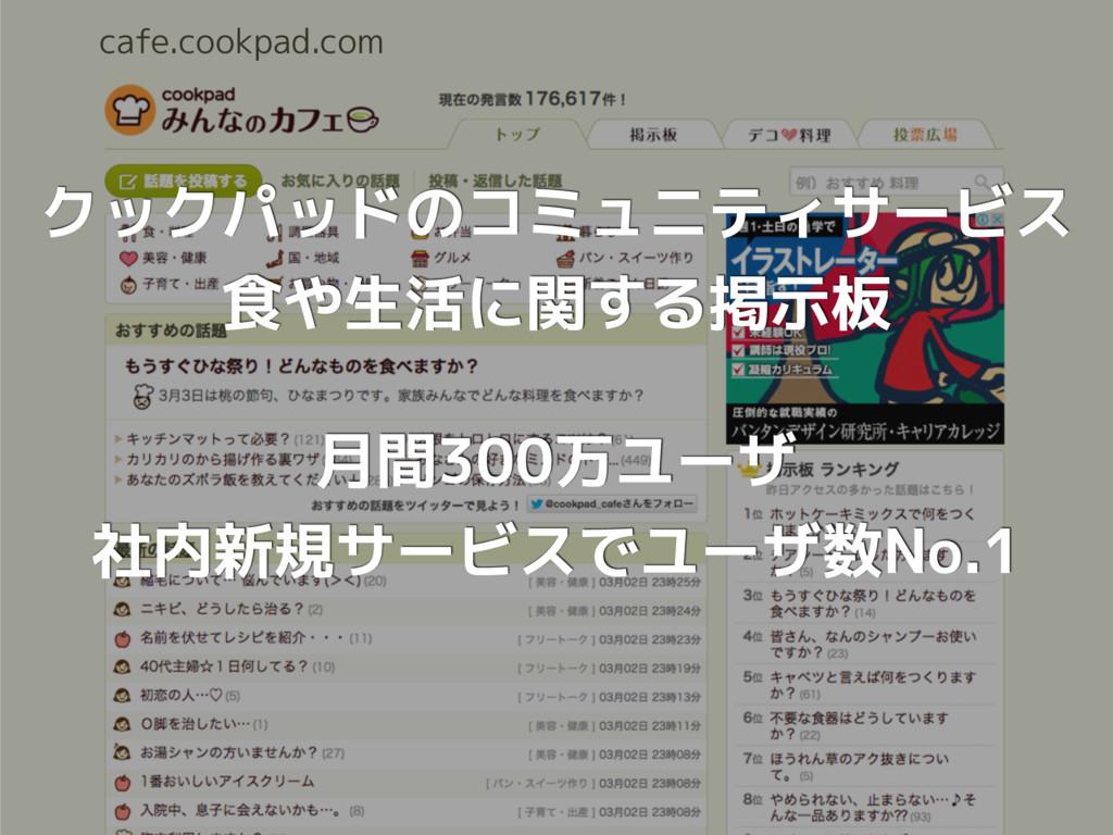 cafe.cookpad.com クックパッドのコミュニティサービス 食や生活に関する掲示板 ...