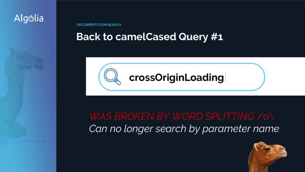 DOCUMENTATION SEARCH Back to camelCased Query #...