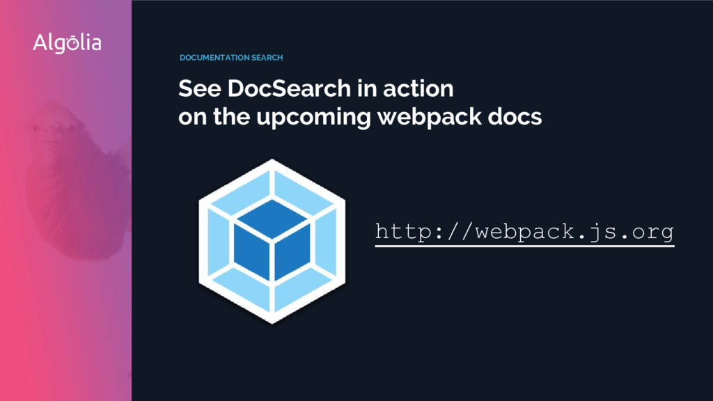 DOCUMENTATION SEARCH See DocSearch in action on...