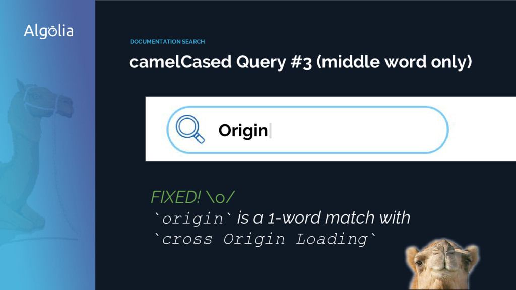 DOCUMENTATION SEARCH camelCased Query #3 (middl...