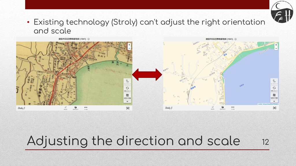 Adjusting the direction and scale • Existing te...