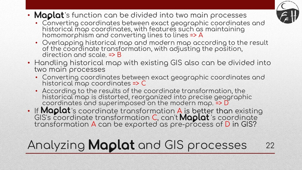 Analyzing and GIS processes • 's function can b...
