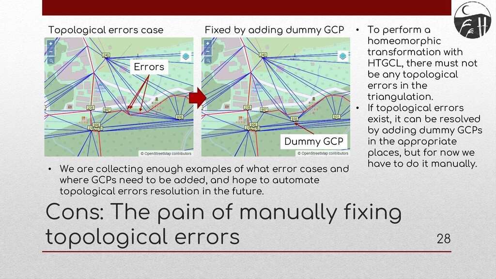 Cons: The pain of manually fixing topological e...