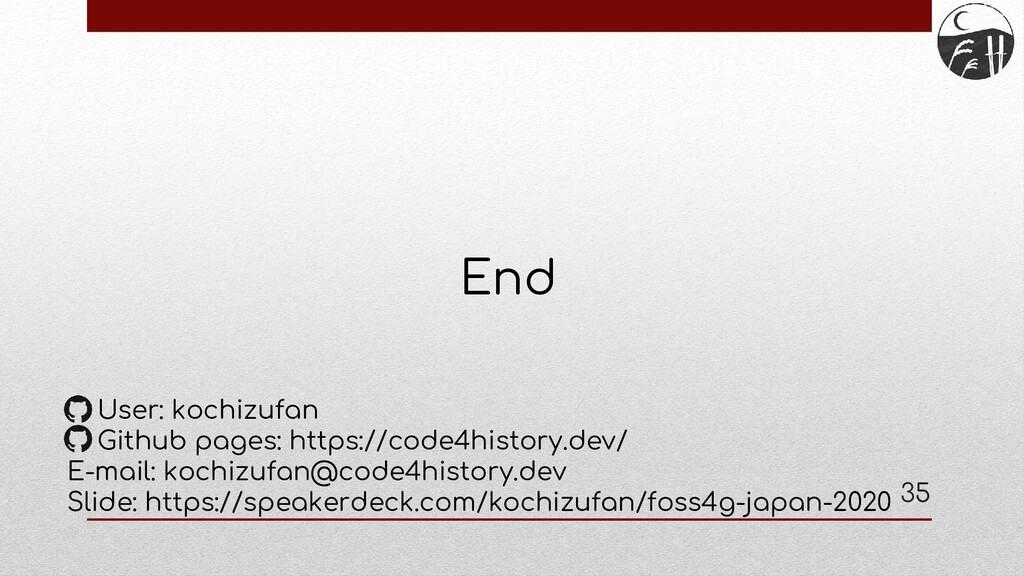 End User: kochizufan Github pages: https://code...