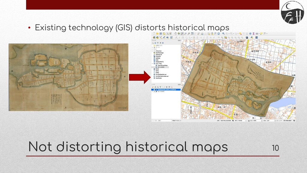 Not distorting historical maps • Existing techn...