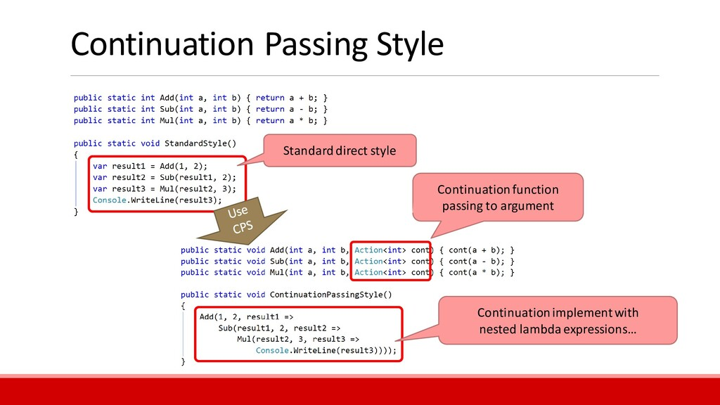 Continuation Passing Style Continuation functio...