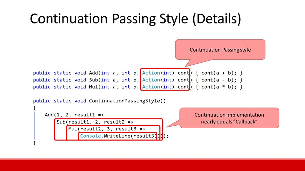 Continuation Passing Style (Details) Continuati...