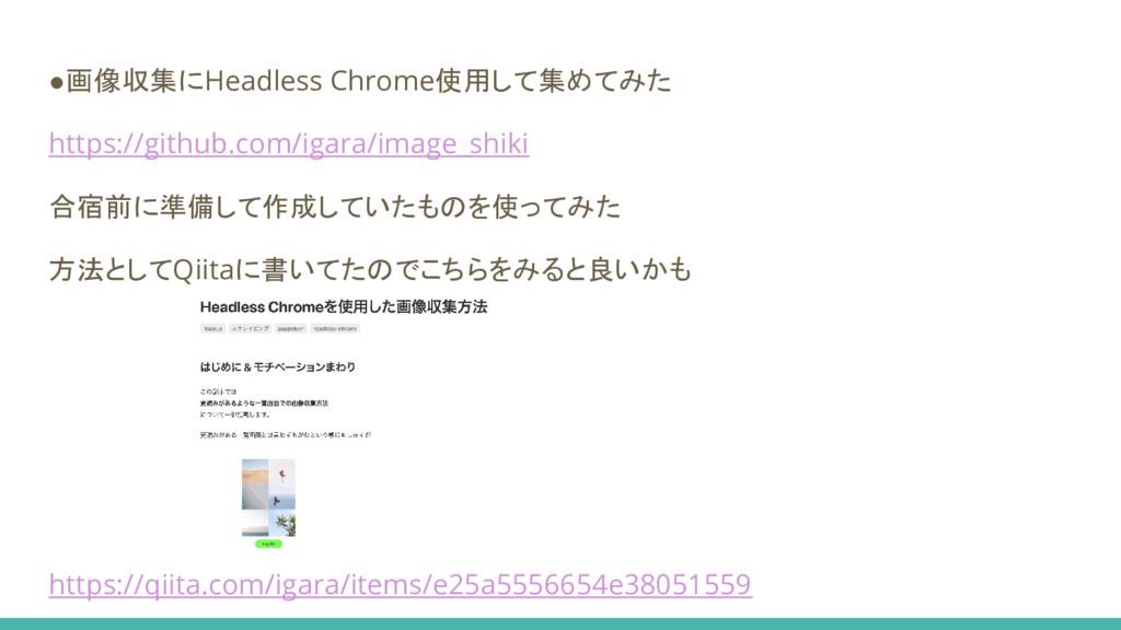 ●画像収集にHeadless Chrome使用して集めてみた https://github.c...