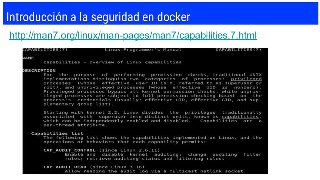 Introducción a la seguridad en docker http://ma...