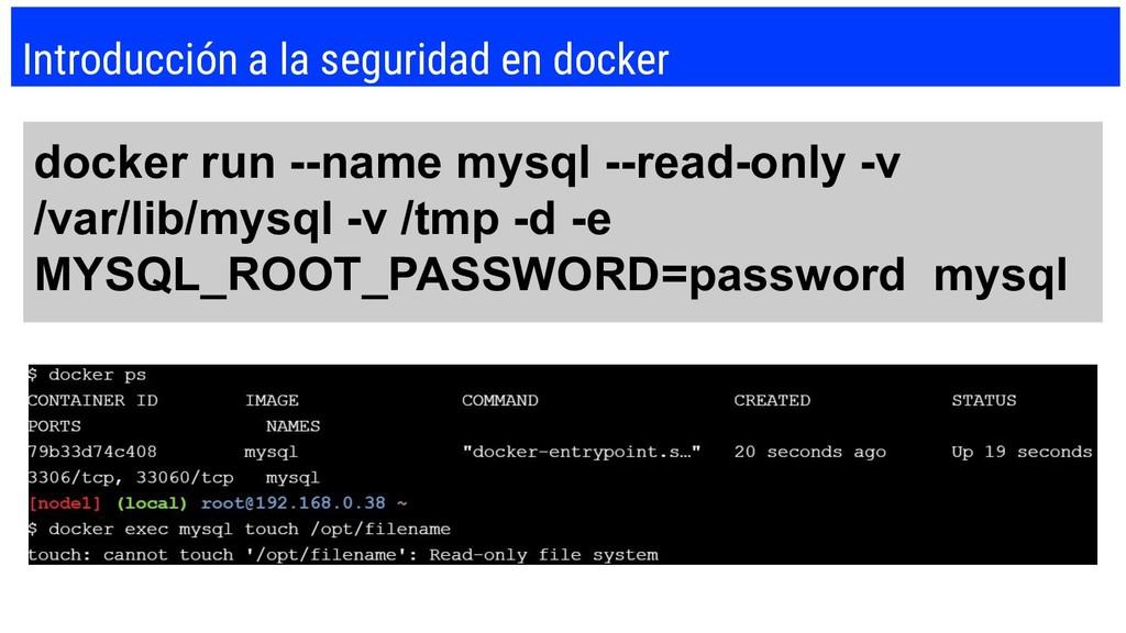 Introducción a la seguridad en docker docker ru...