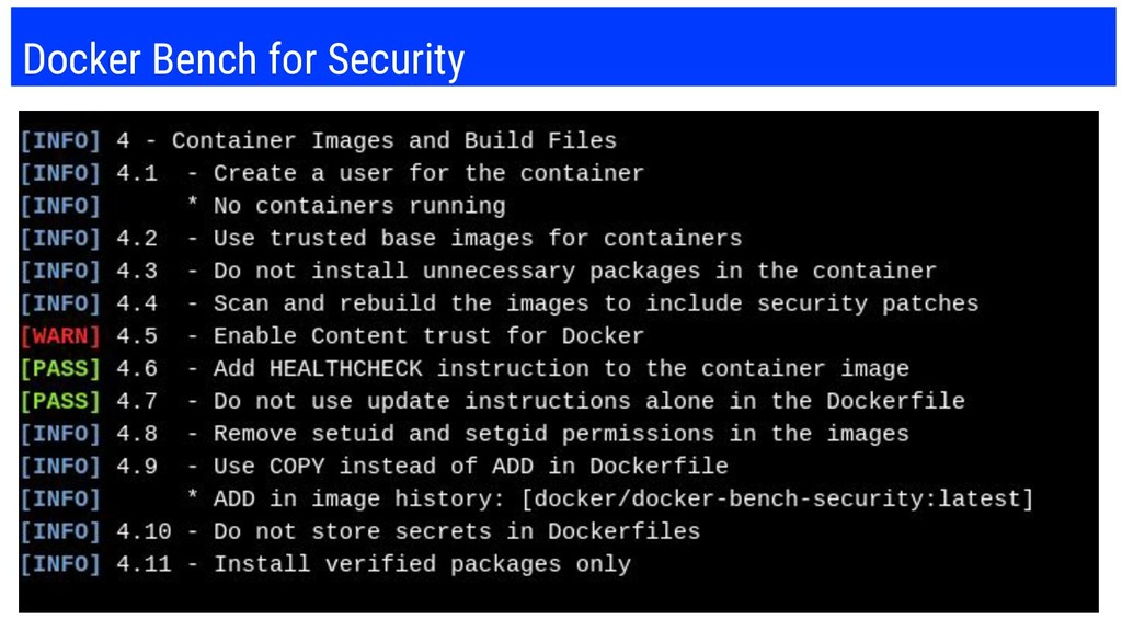 Docker Bench for Security