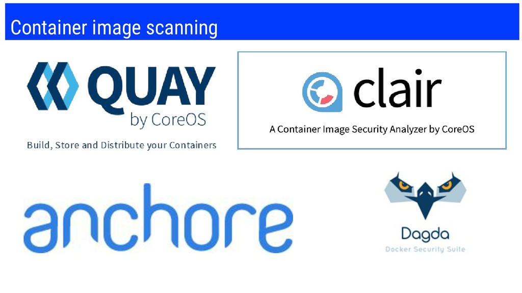 Container image scanning