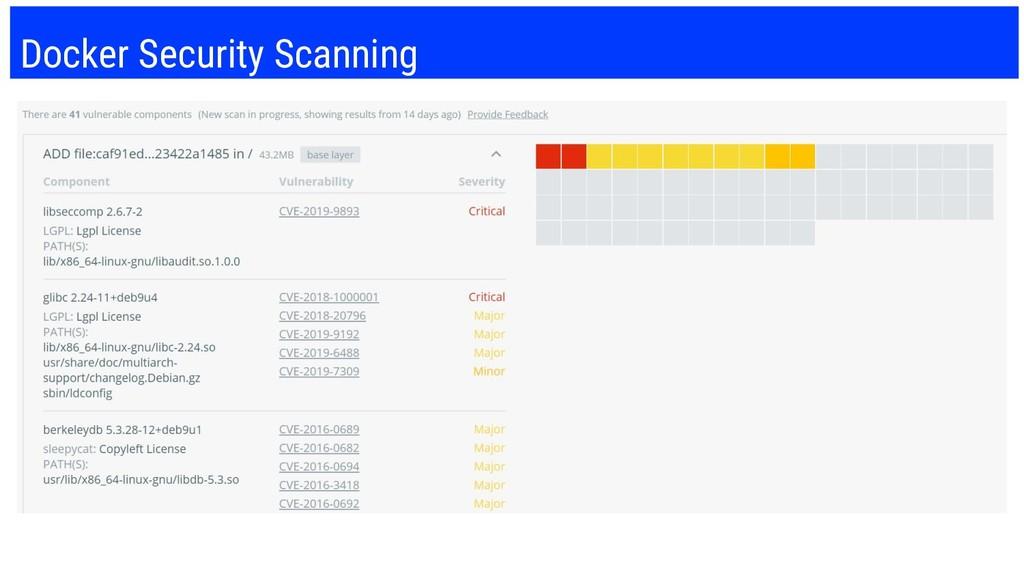 Docker Security Scanning