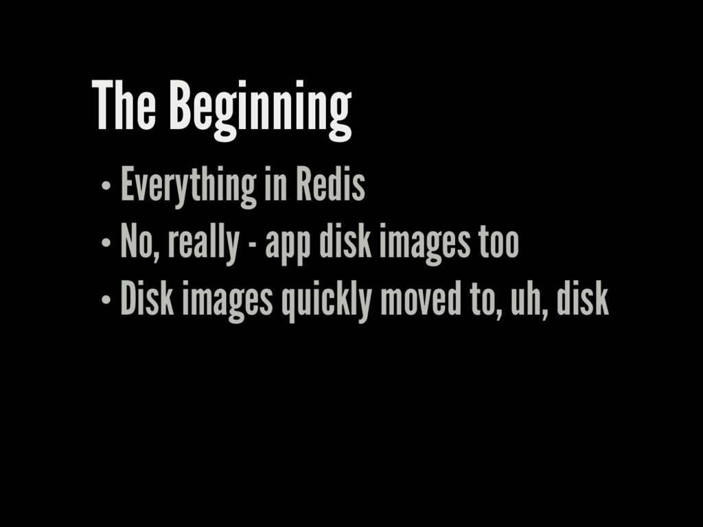 The Beginning Everything in Redis No, really - ...