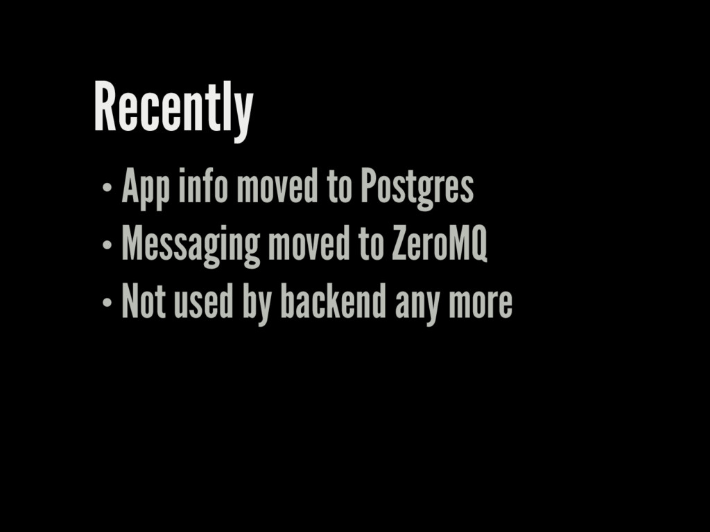 Recently App info moved to Postgres Messaging m...